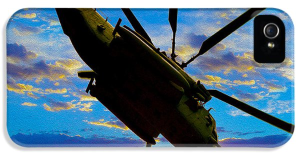 Helicopter iPhone 5s Case - Morning Maneuvers  by Jon Neidert