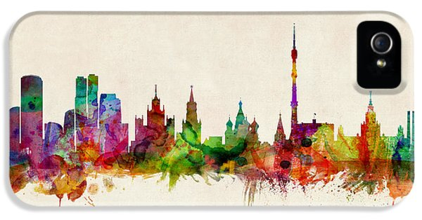 Moscow Skyline IPhone 5s Case by Michael Tompsett