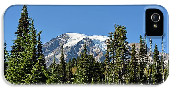 IPhone 5s Case featuring the photograph Mount Rainier Evergreens by Anthony Baatz