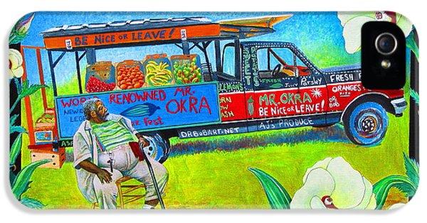 Mango iPhone 5s Case - Mr Okra by Pamela Iris Harden
