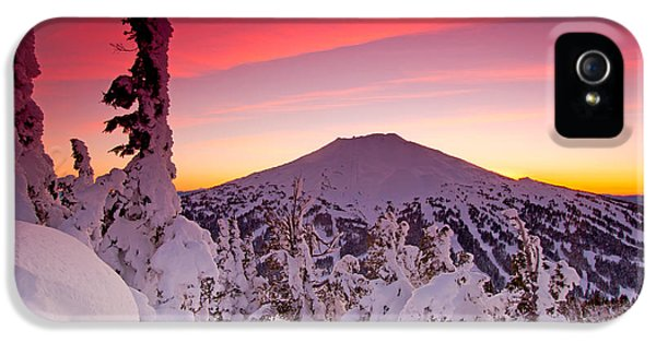 Mt. Bachelor Winter Twilight IPhone 5s Case