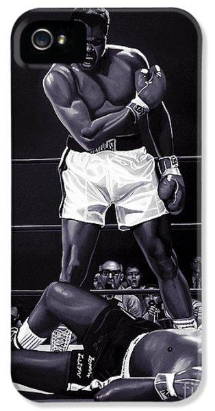 Sonny iPhone 5s Case - Muhammad Ali Versus Sonny Liston by Meijering Manupix