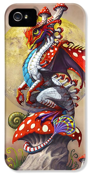Fantasy iPhone 5s Case - Mushroom Dragon by Stanley Morrison