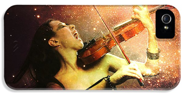 Music Explodes In The Night IPhone 5s Case by Linda Lees