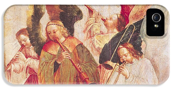 Trombone iPhone 5s Case - Musical Angels, Detail From The Assumption Of The Virgin by Taborda Vlame Frey Carlos