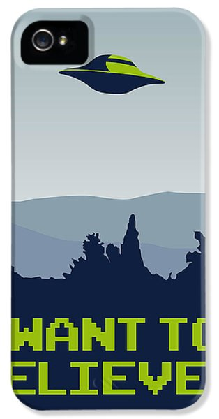 My I Want To Believe Minimal Poster IPhone 5s Case by Chungkong Art