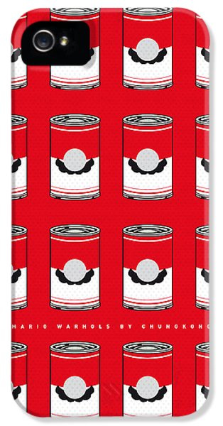Vegetables iPhone 5s Case - My Mario Warhols Minimal Can Poster-mario-2 by Chungkong Art