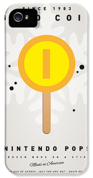 Peach iPhone 5s Case - My Nintendo Ice Pop - Gold Coin by Chungkong Art