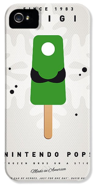Peach iPhone 5s Case - My Nintendo Ice Pop - Luigi by Chungkong Art