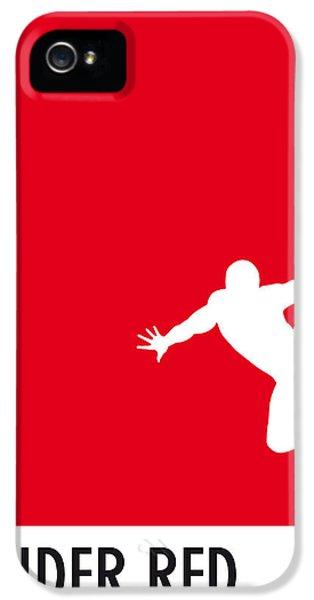 My Superhero 04 Spider Red Minimal Poster IPhone 5s Case