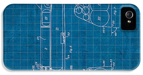Nasa Space Shuttle Vintage Patent Diagram Blueprint IPhone 5s Case