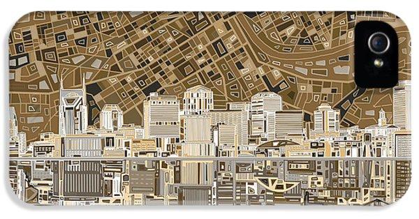 Nashville Skyline Abstract 2 IPhone 5s Case by Bekim Art