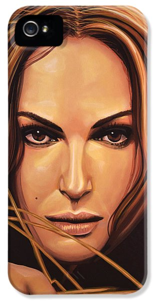 Swan iPhone 5s Case - Natalie Portman by Paul Meijering