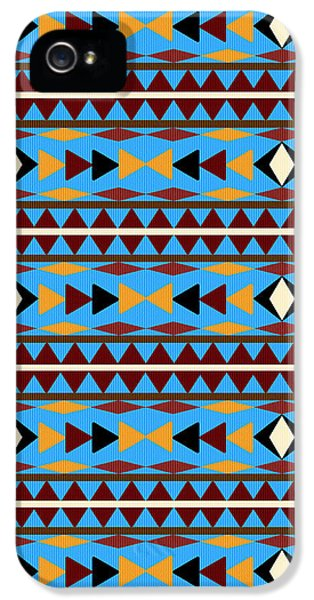 Navajo Blue Pattern IPhone 5s Case by Christina Rollo