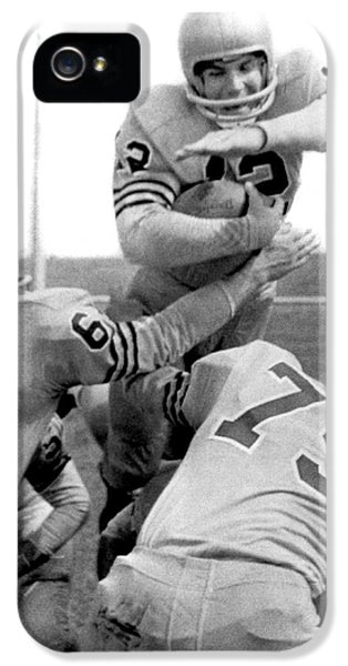 Navy Quarterback Staubach IPhone 5s Case by Underwood Archives