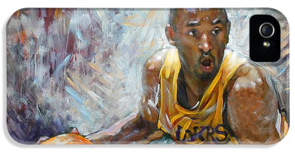 Basketball iPhone 5s Case - Nba Lakers Kobe Black Mamba by Ylli Haruni