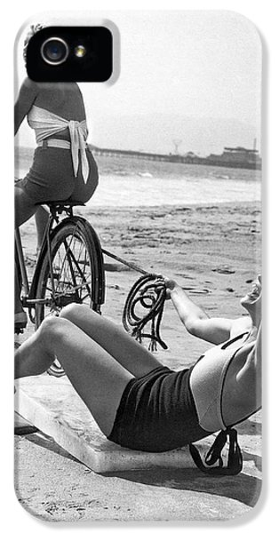 Venice Beach iPhone 5s Case - New Sport Of Ice Planing by Underwood Archives
