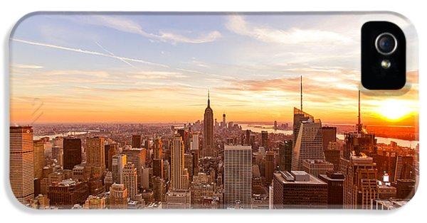 New York City - Sunset Skyline IPhone 5s Case