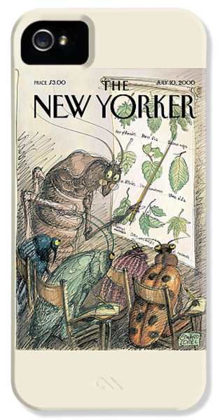 Cricket iPhone 5s Case - New Yorker July 10th, 2000 by Edward Sorel