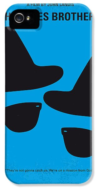 No012 My Blues Brother Minimal Movie Poster IPhone 5s Case by Chungkong Art