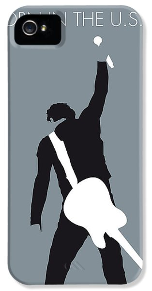 No017 My Bruce Springsteen Minimal Music Poster IPhone 5s Case by Chungkong Art