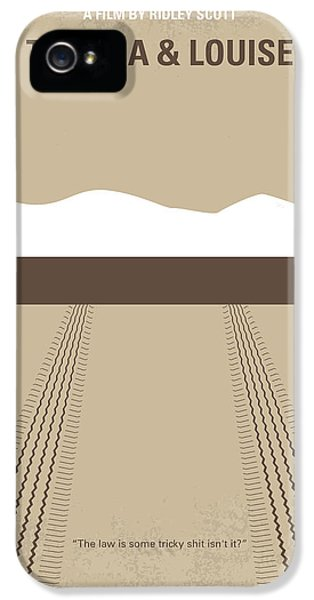 Grand Canyon iPhone 5s Case - No189 My Thelma And Louise Minimal Movie Poster by Chungkong Art