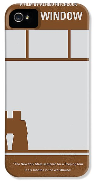 No238 My Rear Window Minimal Movie Poster IPhone 5s Case by Chungkong Art