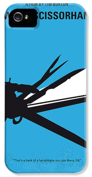 Johnny Depp iPhone 5s Case - No260 My Scissorhands Minimal Movie Poster by Chungkong Art