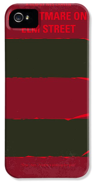 Johnny Depp iPhone 5s Case - No265 My Nightmare On Elmstreet Minimal Movie Poster by Chungkong Art