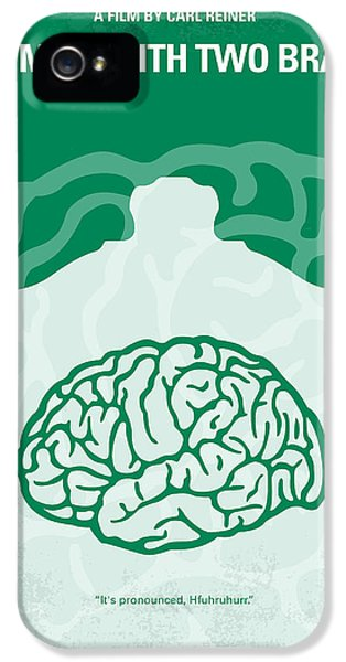 Doctor iPhone 5s Case - No390 My The Man With Two Brains Minimal Movie Poster by Chungkong Art
