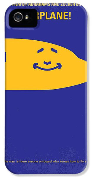 Airplane iPhone 5s Case - No392 My Airplane Minimal Movie Poster by Chungkong Art