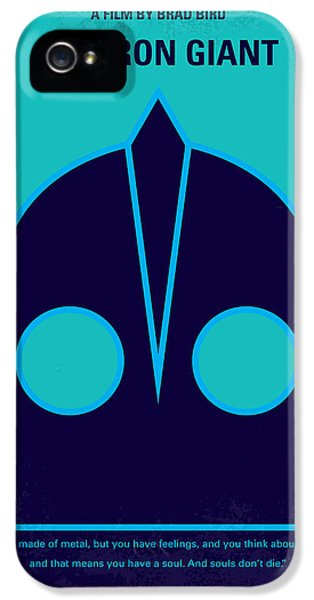 Aliens iPhone 5s Case - No406 My The Iron Giant Minimal Movie Poster by Chungkong Art