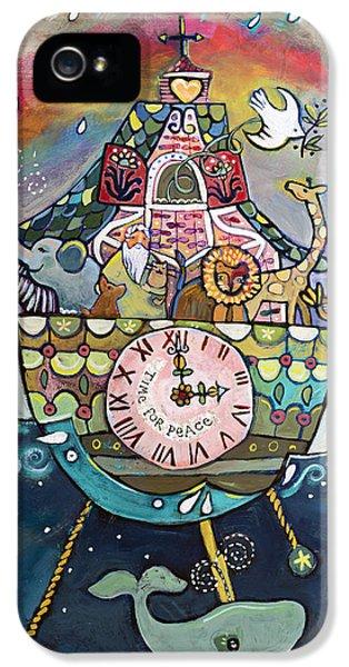 Clock iPhone 5s Case - Noah's Ark Cuckoo Clock Wall Art by Jen Norton