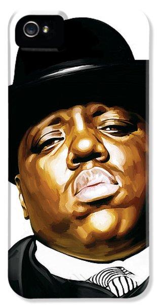 Biggie iPhone 5s Case - Notorious Big - Biggie Smalls Artwork 2 by Sheraz A