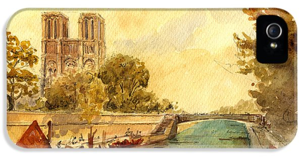 Notre Dame Paris. IPhone 5s Case by Juan  Bosco
