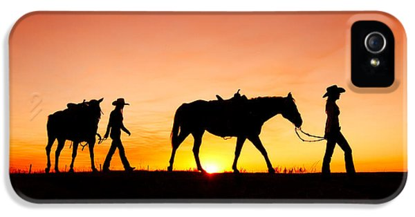 Horse iPhone 5s Case - Off To The Barn by Todd Klassy