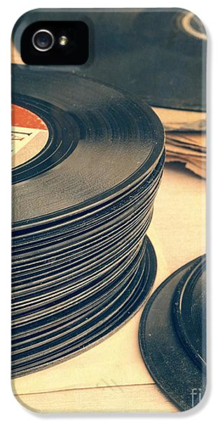 Music iPhone 5s Case - Old 45s by Edward Fielding