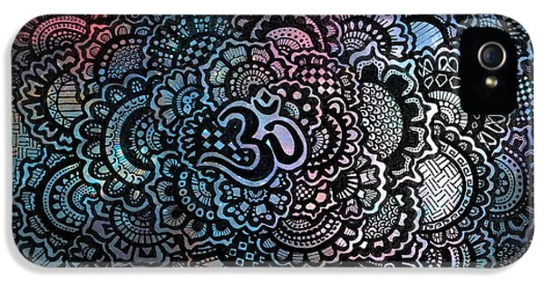 Decorative iPhone 5s Case - Om Sweet Om by Andrea Stephenson