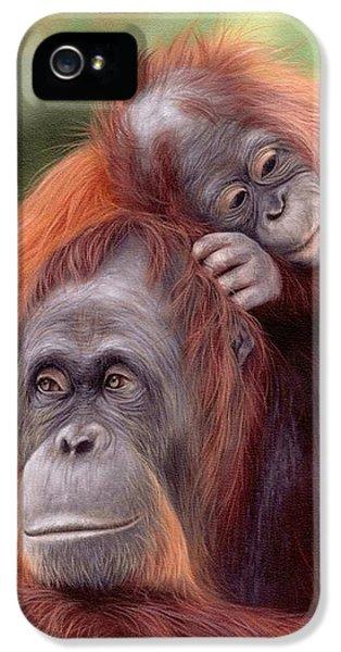 Orangutans Painting IPhone 5s Case by Rachel Stribbling