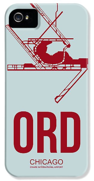 Chicago iPhone 5s Case - Ord Chicago Airport Poster 3 by Naxart Studio