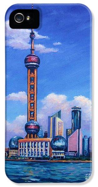 Oriental Pearl Shanghai IPhone 5s Case by John Clark