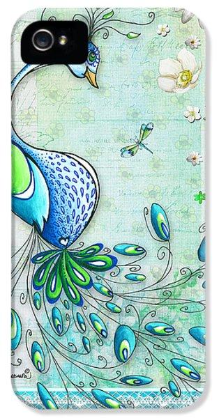 Peacock iPhone 5s Case - Original Peacock Painting Bird Art By Megan Duncanson by Megan Duncanson