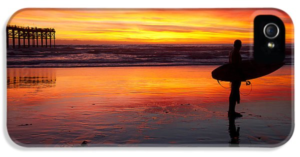 Pacific Beach Was On Fire Tonight IPhone 5s Case by Nathan Rupert