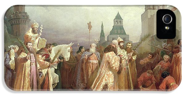 Palm Sunday Procession Under The Reign Of Tsar Alexis Romanov IPhone 5s Case by Viatcheslav Grigorievitch Schwarz
