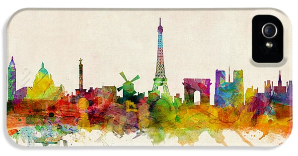 Paris France Skyline Panoramic IPhone 5s Case by Michael Tompsett