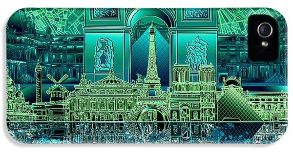 Paris Skyline Landmarks 6 IPhone 5s Case