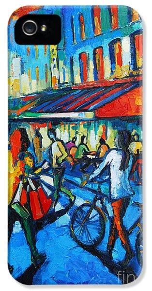 Parisian Cafe IPhone 5s Case by Mona Edulesco