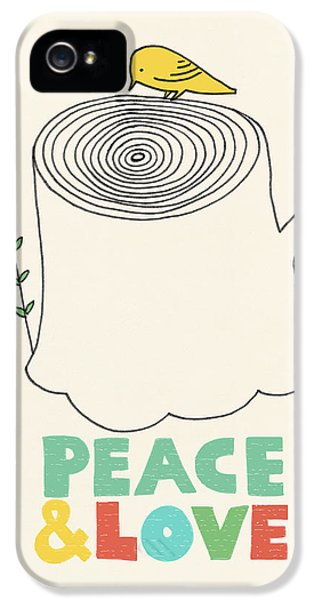 Birds iPhone 5s Case - Peace And Love by Eric Fan