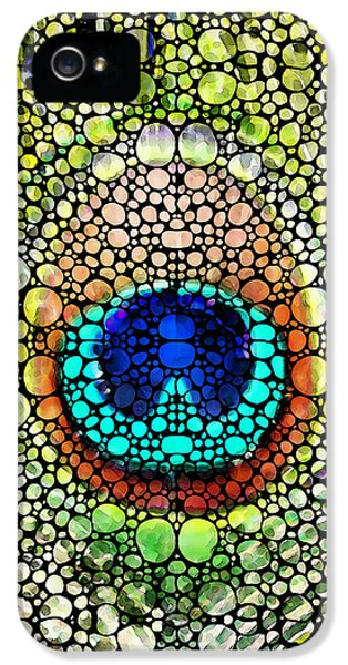Peacock Feather - Stone Rock'd Art By Sharon Cummings IPhone 5s Case by Sharon Cummings