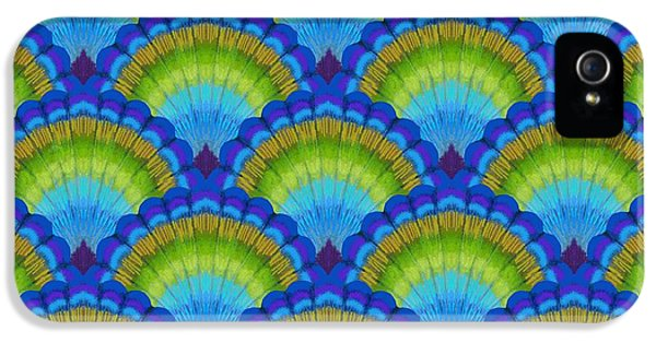 Peacock iPhone 5s Case - Peacock Scallop Feathers by Kimberly McSparran